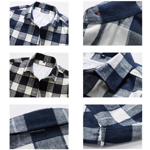 Long Sleeve Men Plaid Shirt Image 5