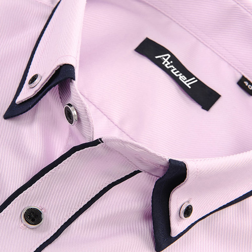 Double Layer Black Piping Long Sleeve Shirt Image 1