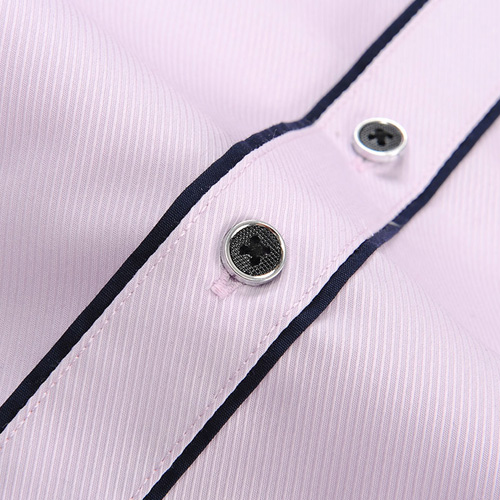 Double Layer Black Piping Long Sleeve Shirt Image 4