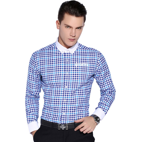 Square Collar Checked Shirts