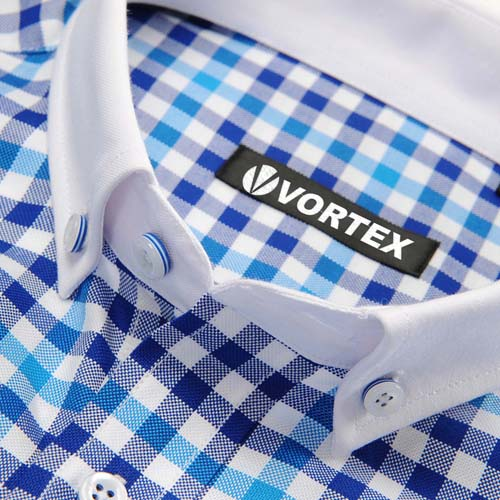 Square Collar Checked Shirts Image 1