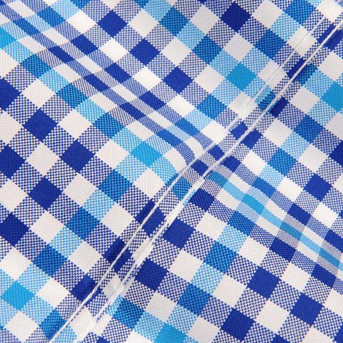 Square Collar Checked Shirts Image 2