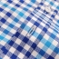 Square Collar Checked Shirts Image 3