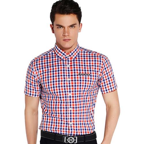 Lightweight Short Sleeve Plaid Striped Shirts