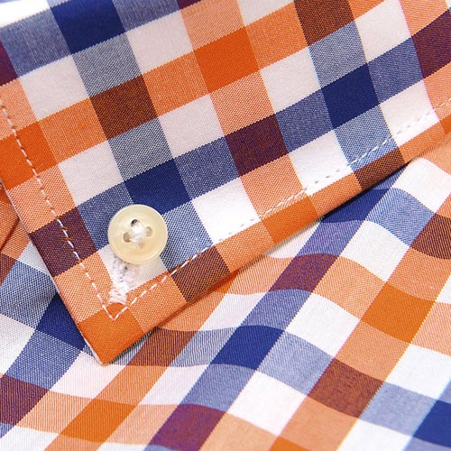 Lightweight Short Sleeve Plaid Striped Shirts Image 1