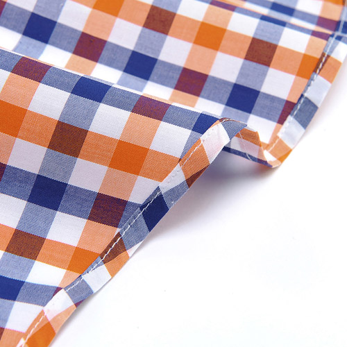 Lightweight Short Sleeve Plaid Striped Shirts Image 2