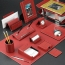 Chrome Plated Desk Pad Set