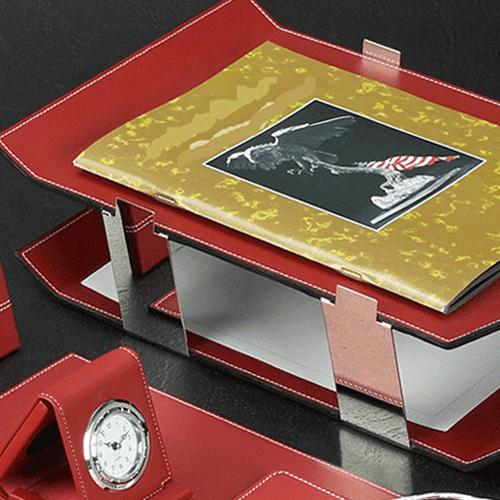 Chrome Plated Desk Pad Set Image 1