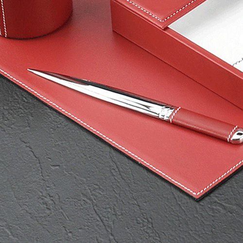 Chrome Plated Desk Pad Set Image 5