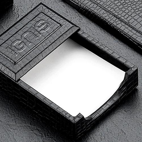 Croco Leather Desk Blotter Accessories Set Image 2