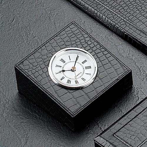 Croco Leather Desk Blotter Accessories Set Image 5