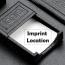 Croco Leather Desk Blotter Accessories Set Imprint Image
