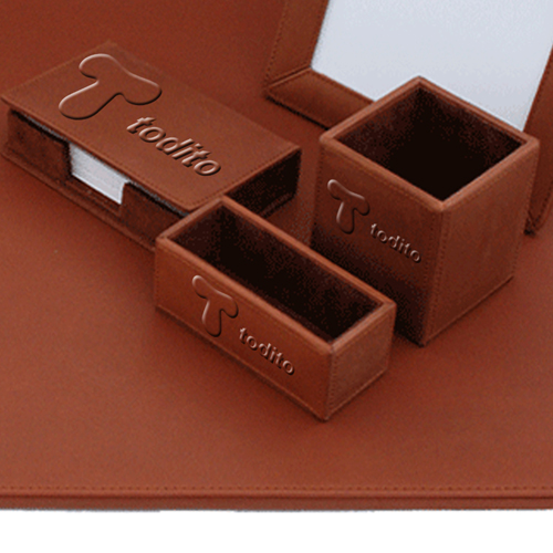 Five-Piece Leather Desk Pad Set Image 3