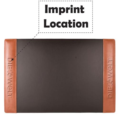 Leather Side Rails Desk Pad Imprint Image