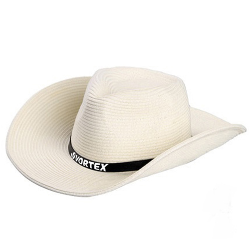 Outdoor Leather Belt Straw Hat Image 1