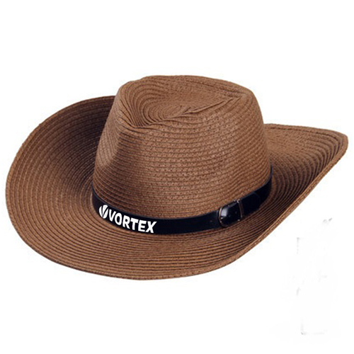 Outdoor Leather Belt Straw Hat Image 3