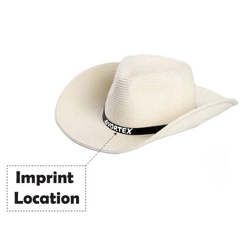 Outdoor Leather Belt Straw Hat Imprint Image