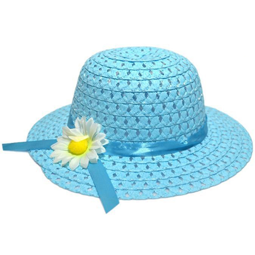 Hollow Flower Straw Hats for Childrens Image 1