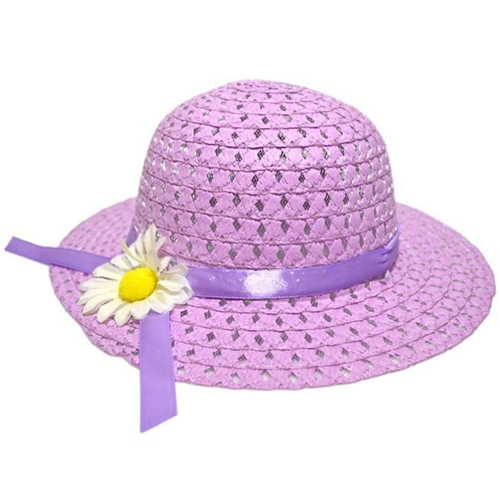 Hollow Flower Straw Hats for Childrens Image 2