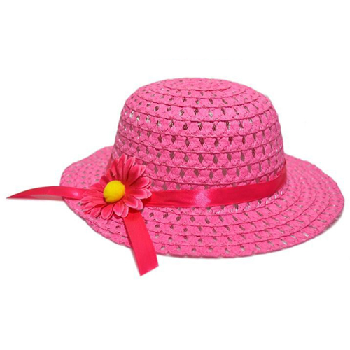 Hollow Flower Straw Hats for Childrens Image 3