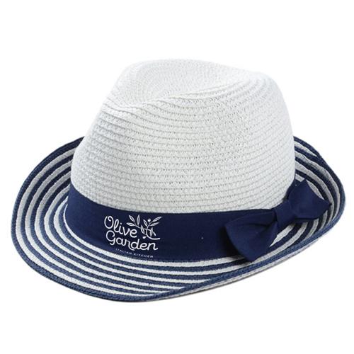 Striped Women Straw Hat