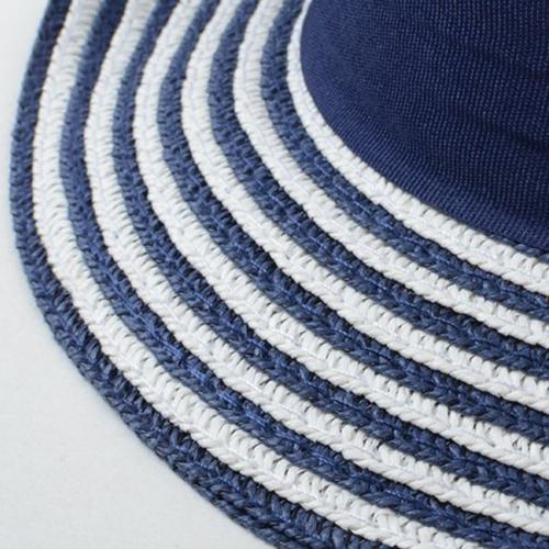 Striped Women Straw Hat Image 5