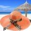 Wide Brim Leopard Ribbon Straw Hat