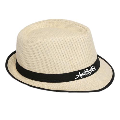 Fluorescent Unisex Beach Straw Hat Image 1