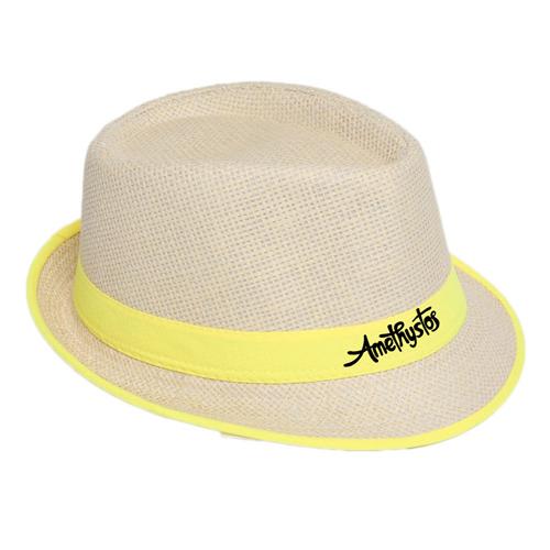 Fluorescent Unisex Beach Straw Hat Image 2