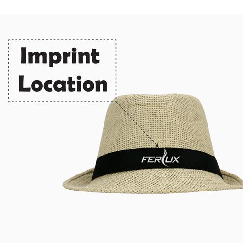 Fashionable Unisex Straw Hat Imprint Image