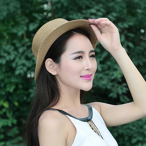 Foldable Womens Straw Hat Image 2