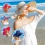 Large Brim Bowknot Design Beach Hat Image 3