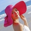 Large Brim Bowknot Design Beach Hat Image 4