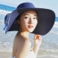 Large Brim Bowknot Design Beach Hat Image 5