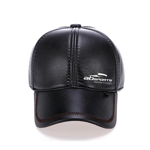 Baseball Winter Leather Cap Image 1