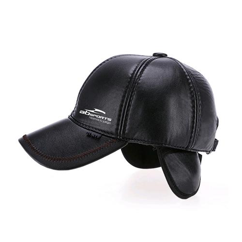 Baseball Winter Leather Cap Image 2