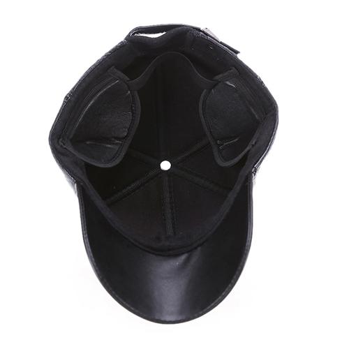 Baseball Winter Leather Cap Image 4