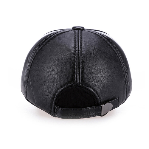 Baseball Winter Leather Cap Image 5