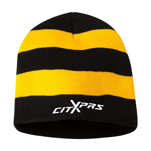 Sportsmen Striped Knitted Beanie Image 1