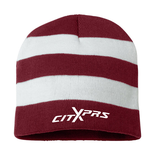Sportsmen Striped Knitted Beanie Image 2
