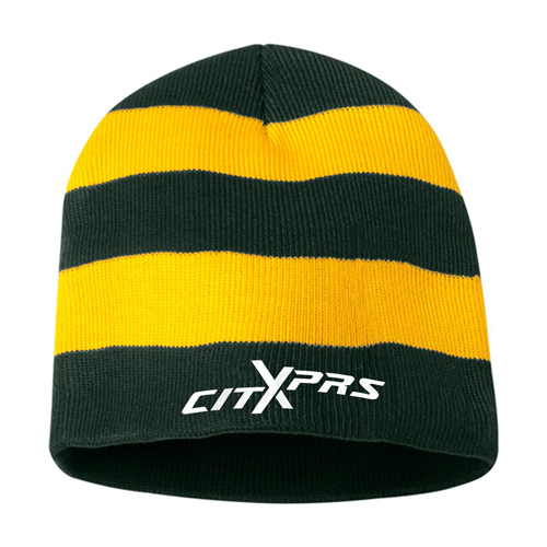 Sportsmen Striped Knitted Beanie Image 3