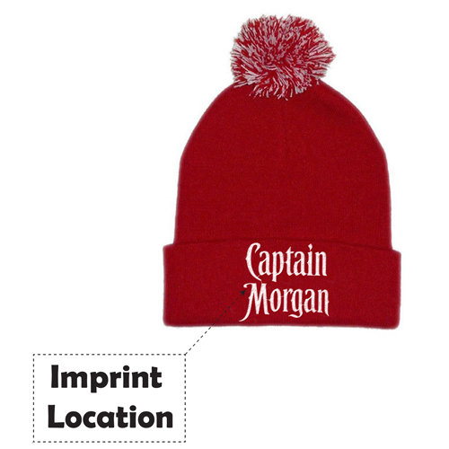 Warm Cotton Knitted Beanie Imprint Image
