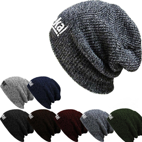 Warm Baggy Knitted Beanie Image 3