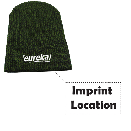 Warm Baggy Knitted Beanie Imprint Image