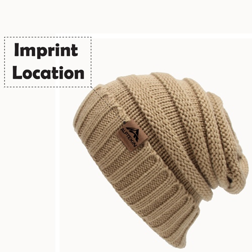 Cable Knitted Winter Beanie Imprint Image
