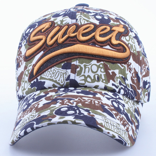 Fashionable Cotton Camouflage Cap Image 5