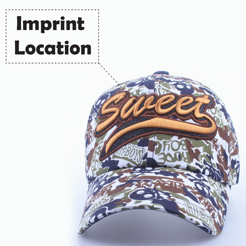 Fashionable Cotton Camouflage Cap Imprint Image