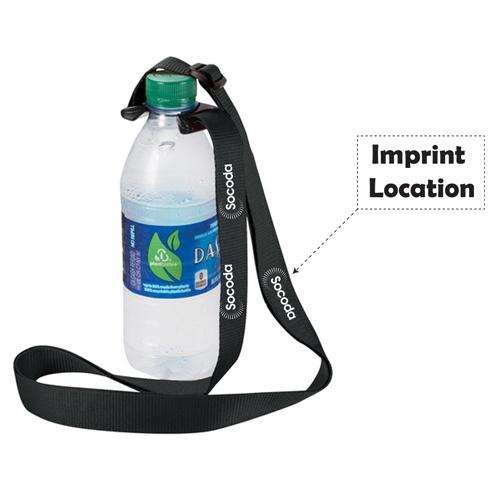 Bottle Strap Polyester Lanyard Imprint Image