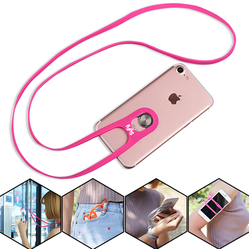 Flexible Mobile Phone Neck Strap Image 1