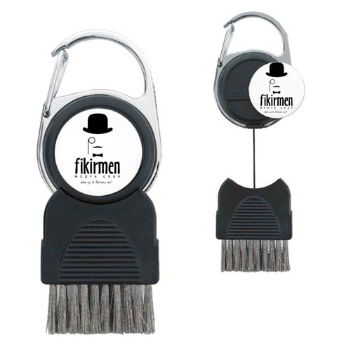 Golf Club Brush with Removable Ball Marker